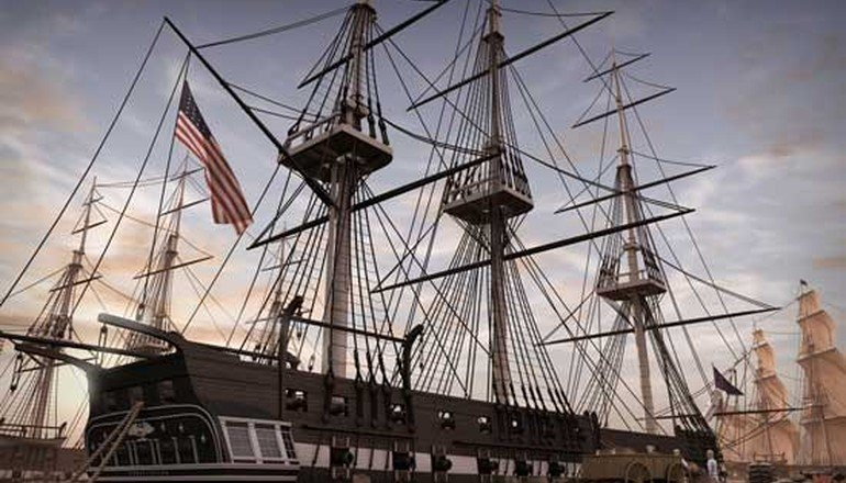 Restoring Drydock for USS Constitution