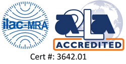 ilac-MRA a2La accredited