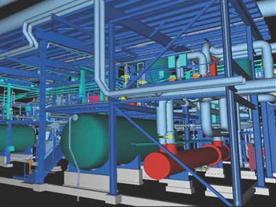 Chemical Refinery 3D Model
